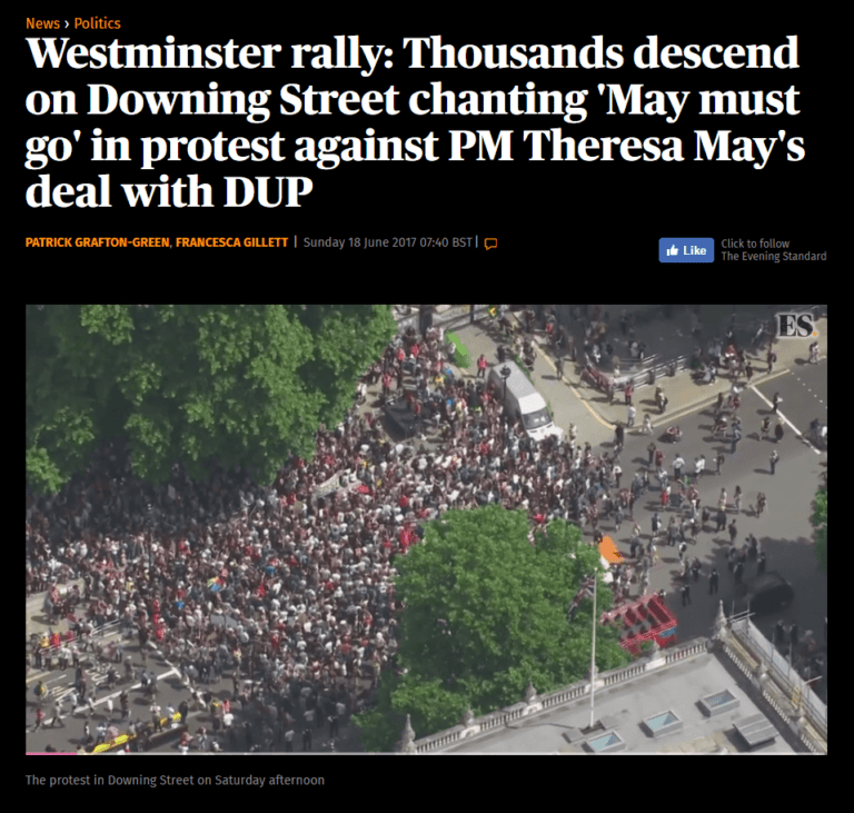 """Thousands descend on Downing Street"""