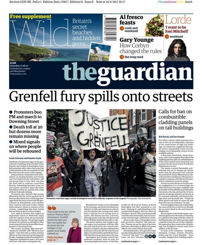 """Grenfell fury spills onto streets"""